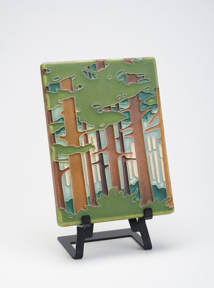 spring woodland art tile