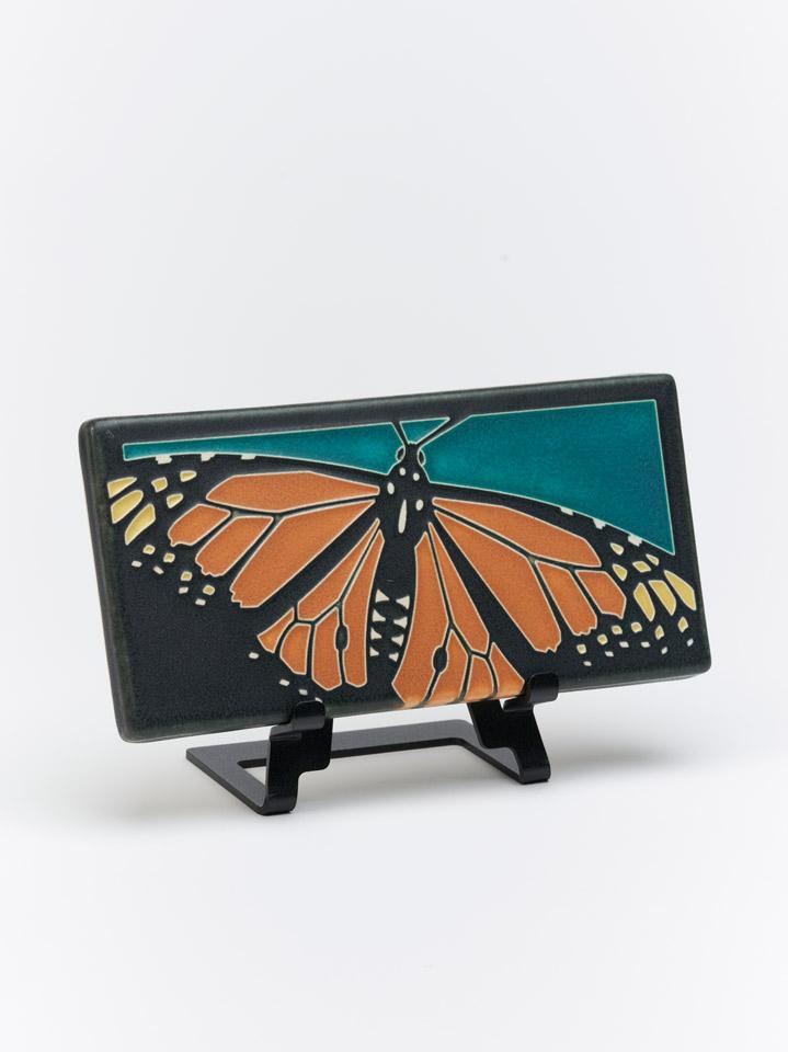 monarch turquoise art tile