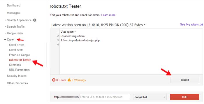 Robots.txt-Tester-google-webmaster-tools