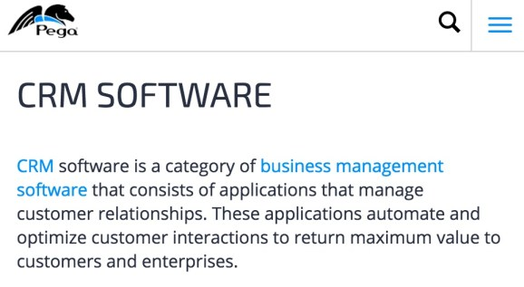CRM Software Pegasystems