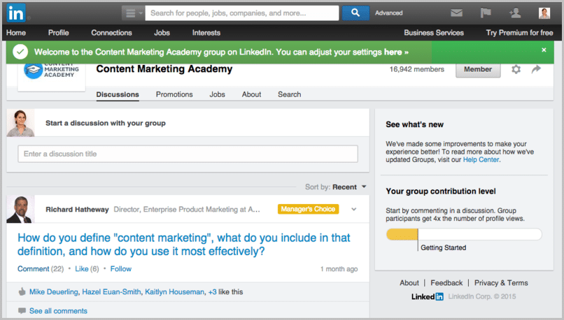Avoid LinkedIn InMail by searching a group for your prospect