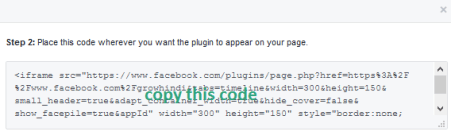 Copying facebook page plugin iframe code