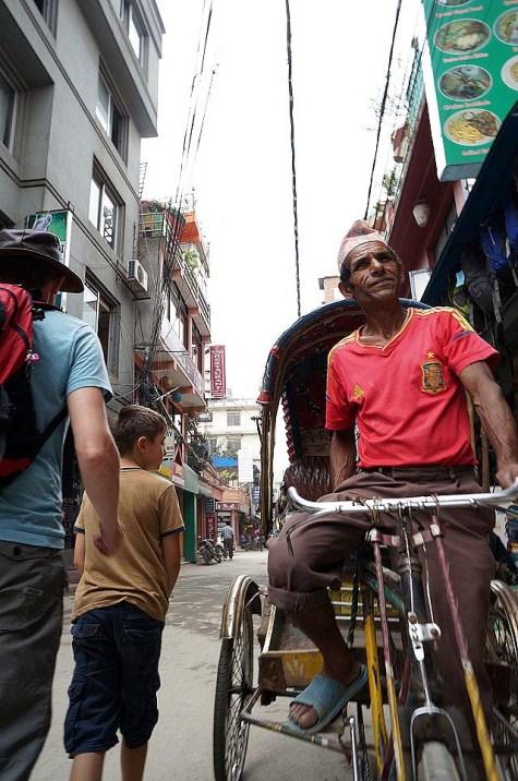 Cycle rickshaw in Thamel
