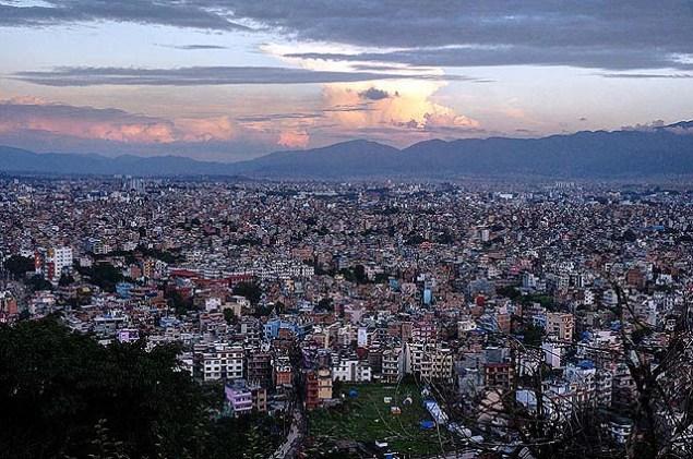 View from Swayambunath Monkey Temple