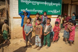 Hill tribe school children
