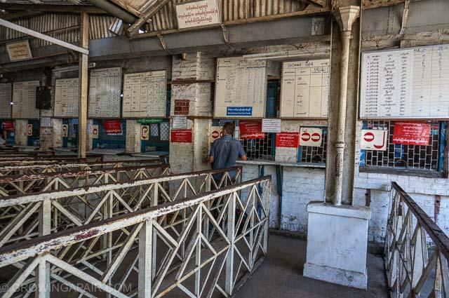 Yangon train ticket office