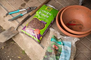 Getting ready - materials for digging