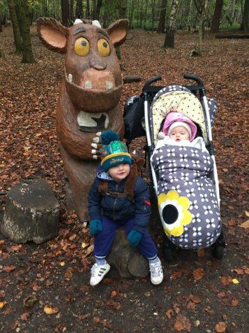 baby bear&a with gruffalo child