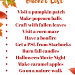 Family Friendly Fall Bucket List