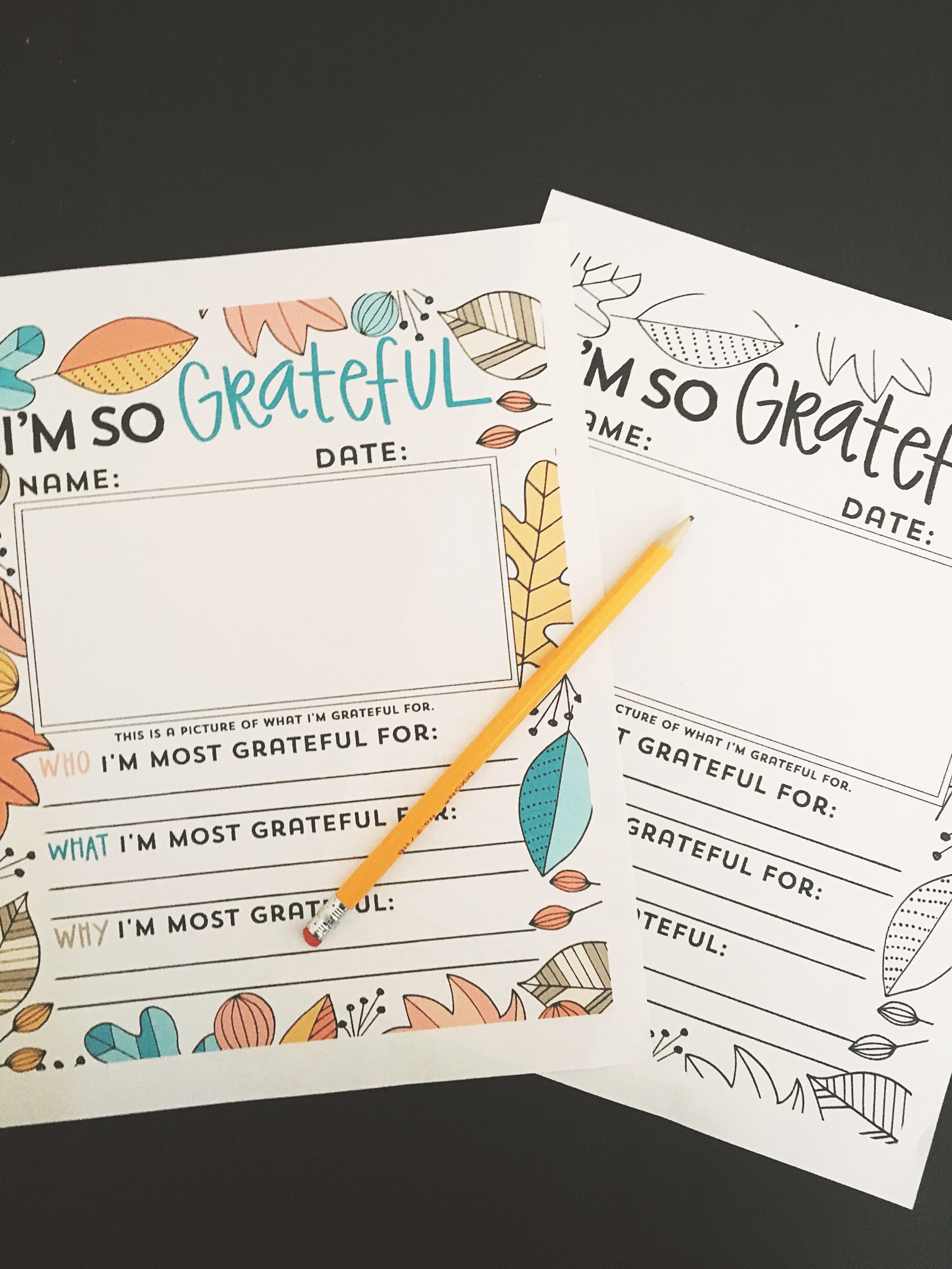 Gratitude Worksheets