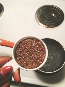 DIY flaxseed gel