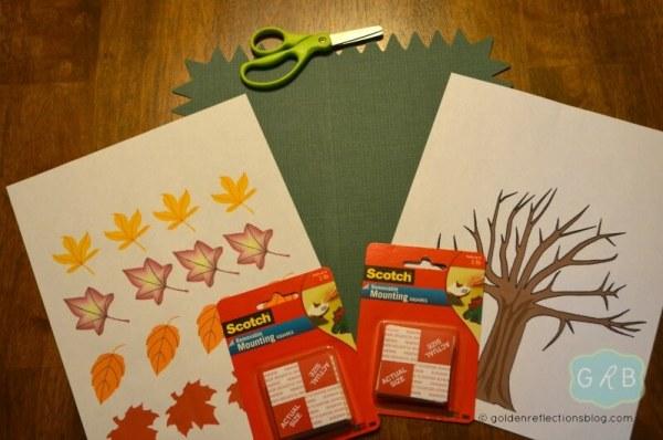 Fall Tree Decorating Craft 1