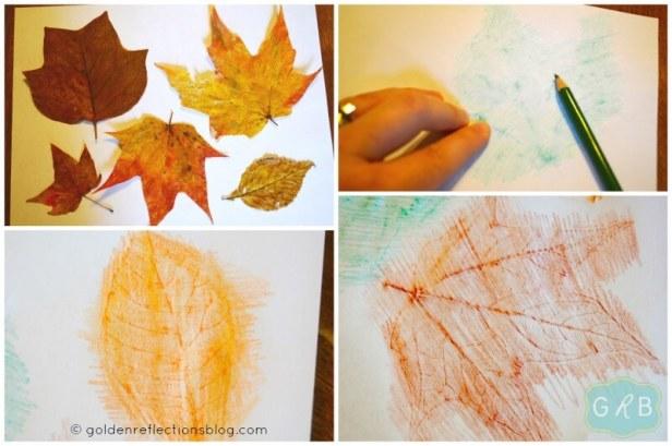 Leaf Rubbing Collage 3