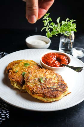 Zucchini + Potato Fritters | Gluten Free, Low FODMAP | Growing Home