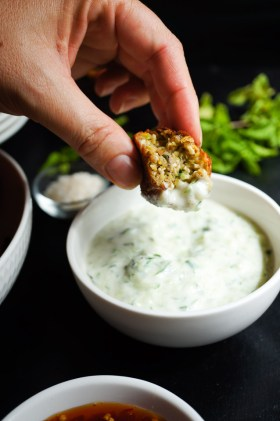 Zucchini + Halloumi Balls | Gluten Free, Low FODMAP | Growing Home