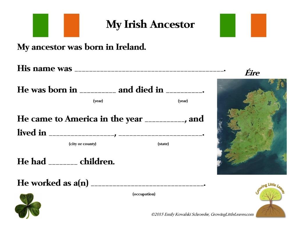 Irish Worksheet