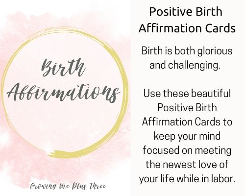 picture of birth affirmation cards available in site's shop