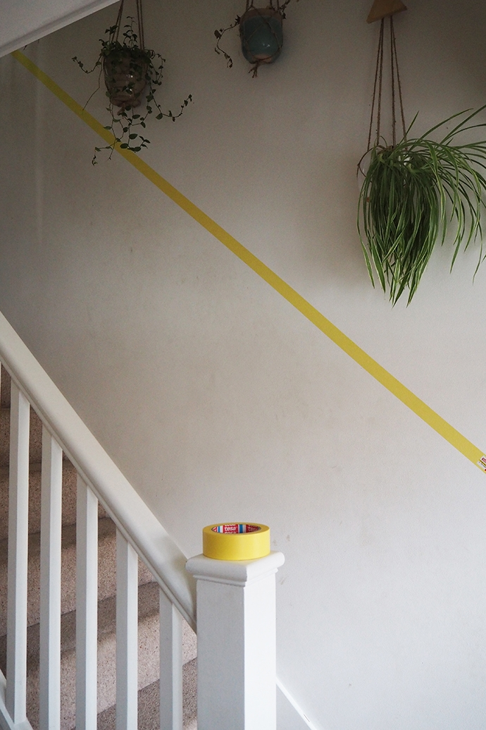 Will A Half Painted Stairway Wall Beat D*Rty Hand Marks And Scuffs   Half Wall Staircase Design   Minimalist   Stair Railing   Frames Up   Architecture Contemporary   Stairway