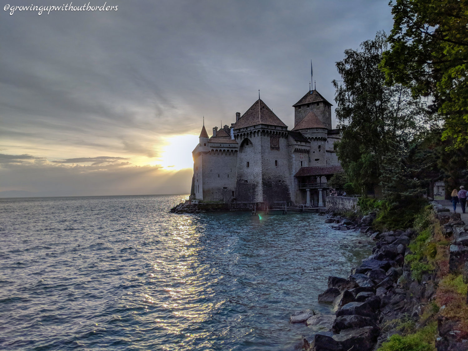 Villeneuve, Chateau de Chillon, Switzerlandx