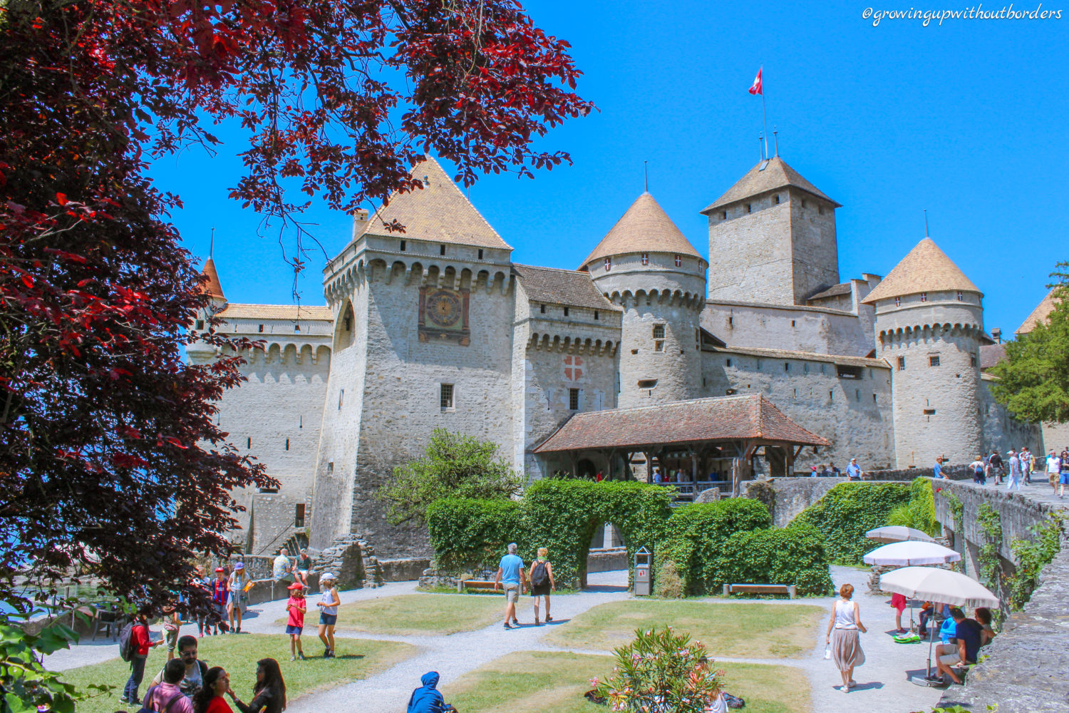 Villeneuve, Chateau de Chillon, Switzerland
