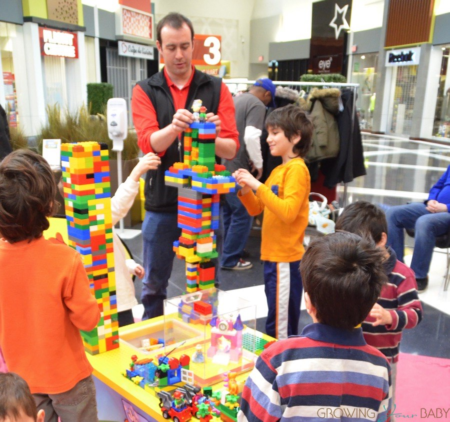 Magic of Play Lego Duplo Mall Booth   building with the kids     Magic of Play Lego Duplo Mall Booth   building with the kids