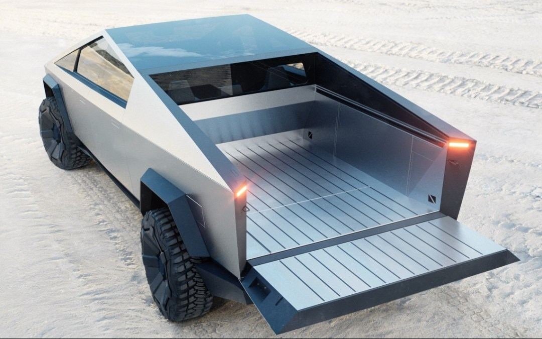Tesla Cybertruck rear view