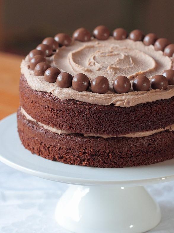 vier delen cake