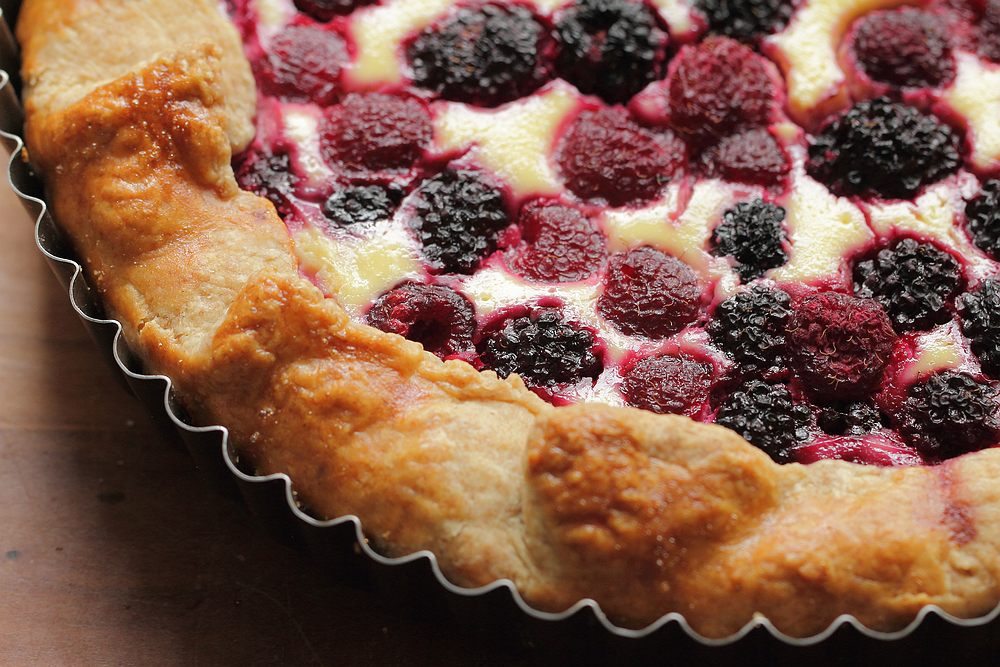 Double berry ricotta galette