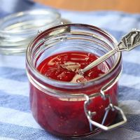 Strawberry elderflower jam