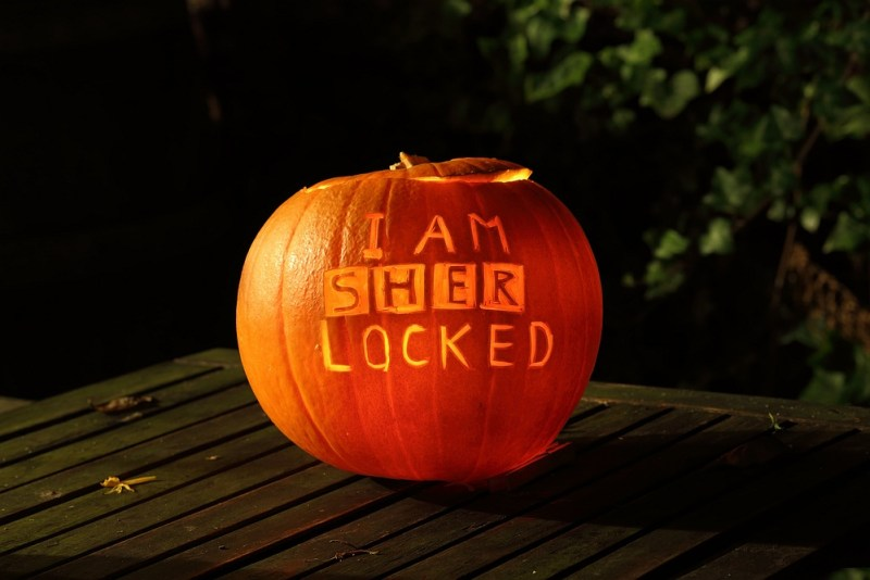i am sherlocked pumpkin