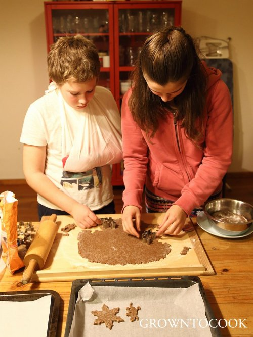 baking gingerbread cookies