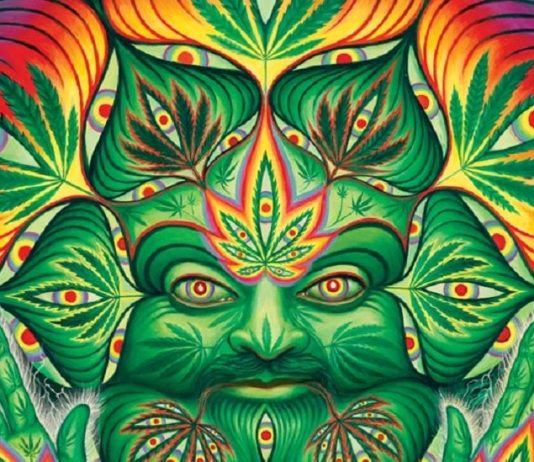 Cannabachus, por Alex Grey