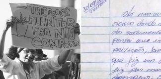 Carta do ativista Sérgio Delvair da Costa, o THCProcê