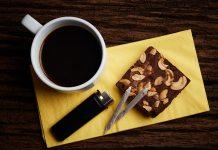 maconha, café, chá, brownie, bolo, baseado