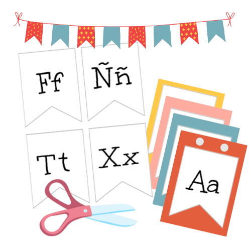 Spanish Alphabet Letters | Alphabet Banner Craft
