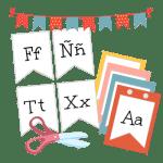 spanish alphabet banner craft with scissors free activity