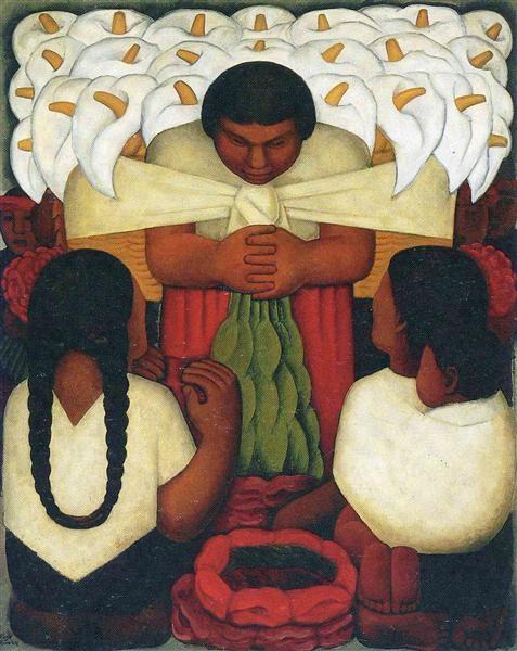 Flower Festival - Diego-Rivera, 1925