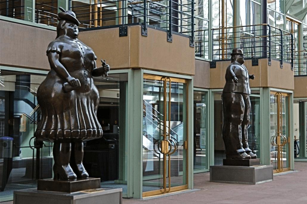 Fernando Botero Man and Woman Denver Colorado