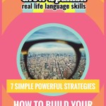 eyeglass lense view of city, text 7 simple powerful strategies how to build your spanish vocabulary