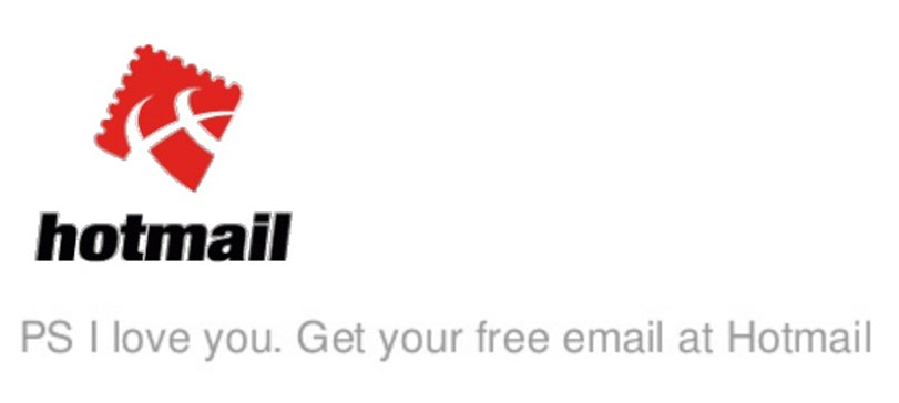 Hotmail growth hacking example PS i love you