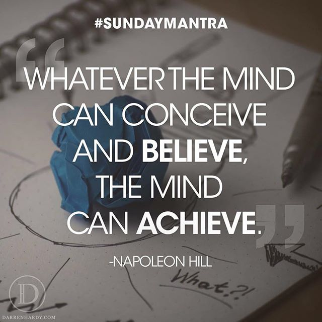 Whatever the mind can conceive
