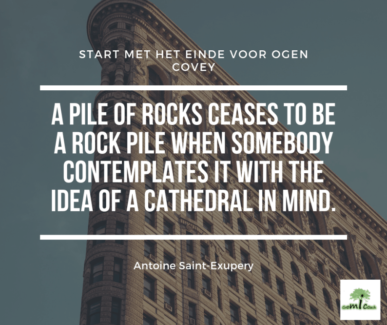 A pile of rocks ceases to be a rock pile when somebody contemplates it with the idea of a cathedral in mind