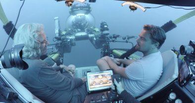 DiCaprio and Brett Ratner in submarine