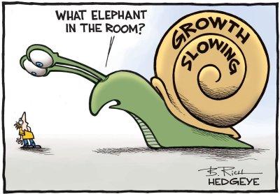 growth slowing snail cartoon