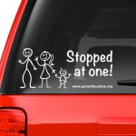 Stopped at One sticker on car