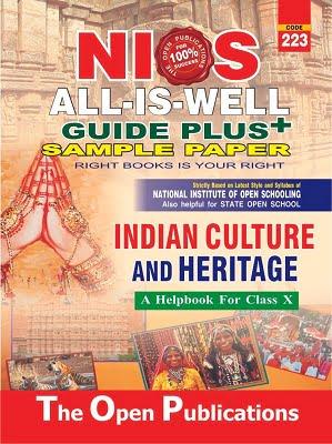 NIOS INDIAN CULTURE & HERITAGE GUIDE BOOKS