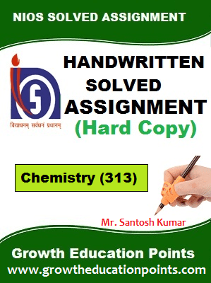 chemistry 313 solved assignment