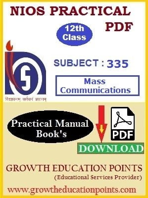 12th class mass communication practical file in hindi