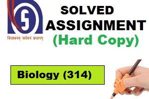 Nios Hand Written Assignment Biology-314