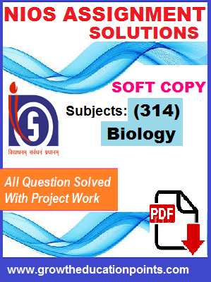 Biology-314 Nios solved Assignment